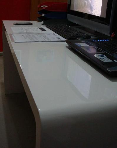 Kundenbildergalerie für White Club Schreibtisch weiss 150 x 70