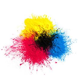 Toner und Farbpulver