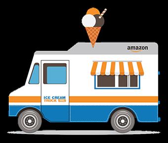The Amazon ice cream truck in your city