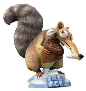 Original MuckleFigur von Scrat aus dem Film Ice Age 4  Voll