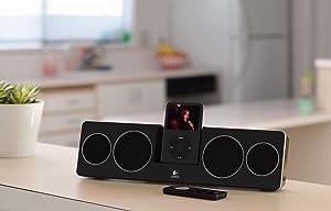 logitech pure fi anywhere 2 soundsystem f r ipod iphone schwarz heimkino tv video. Black Bedroom Furniture Sets. Home Design Ideas