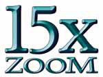 15-fach Zoom