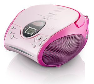 lenco scd 24 mp3 stereo ukw radio cd mp3 player teleskopantenne pink audio hifi. Black Bedroom Furniture Sets. Home Design Ideas