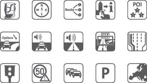 Icons zu den Features