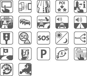Icons zu den Features