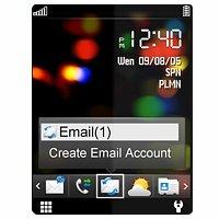 Alcatel OT-606 schwarz Handy
