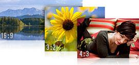 Verschiedene Fotoformate