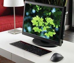 Logitech K750 Solar-Tastatur im Wohnzimmer