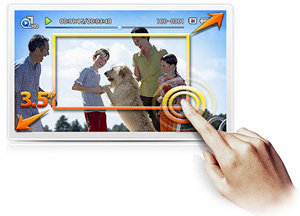 7,6 cm Touchscreen