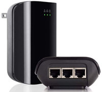 F5D4081de Powerline AV 200Mbps Adapter 3-Port Duo Pack