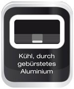 K&uuml;hl durch geb&uuml;rstetes Aluminium