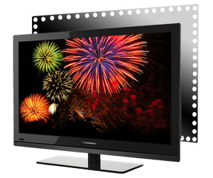 fernseher thomson 40ft4253 101 6 cm 40 zoll led backlight fernseher energieeffizienzklasse a. Black Bedroom Furniture Sets. Home Design Ideas