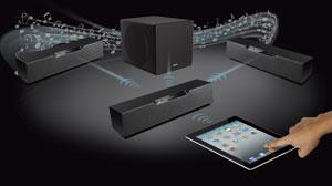 Kabelloses Lautsprecher-Modulsystem
