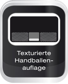 Texturierte Handballenauflage