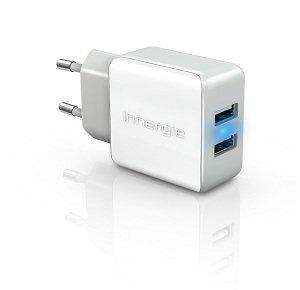 Innergie mMini AC15 Dual USB Stromadapter weiß in Geamtansicht