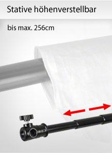 Stative höhenverstellbar bis max. 256cm