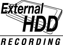 External HDD Recording