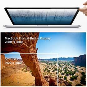 Auflösung von 2880 x 1800 Pixel