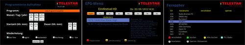 TELESTAR DIGIBIT B1 Screens