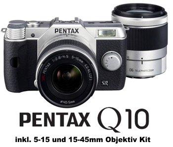 Pentax Q10 Systemkamera inkl. 5-15 und 15-45mm Objektiv Kit