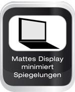 Mattes Display minimiert Spiegelungen