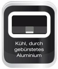 Kuehlgebuerstetes Aluminium