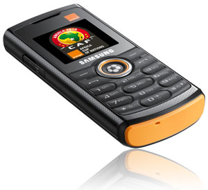 Samsung E2120 in orange