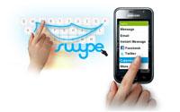 Schnelles Tippen dank Swype beim Samsung Galaxy S I9000