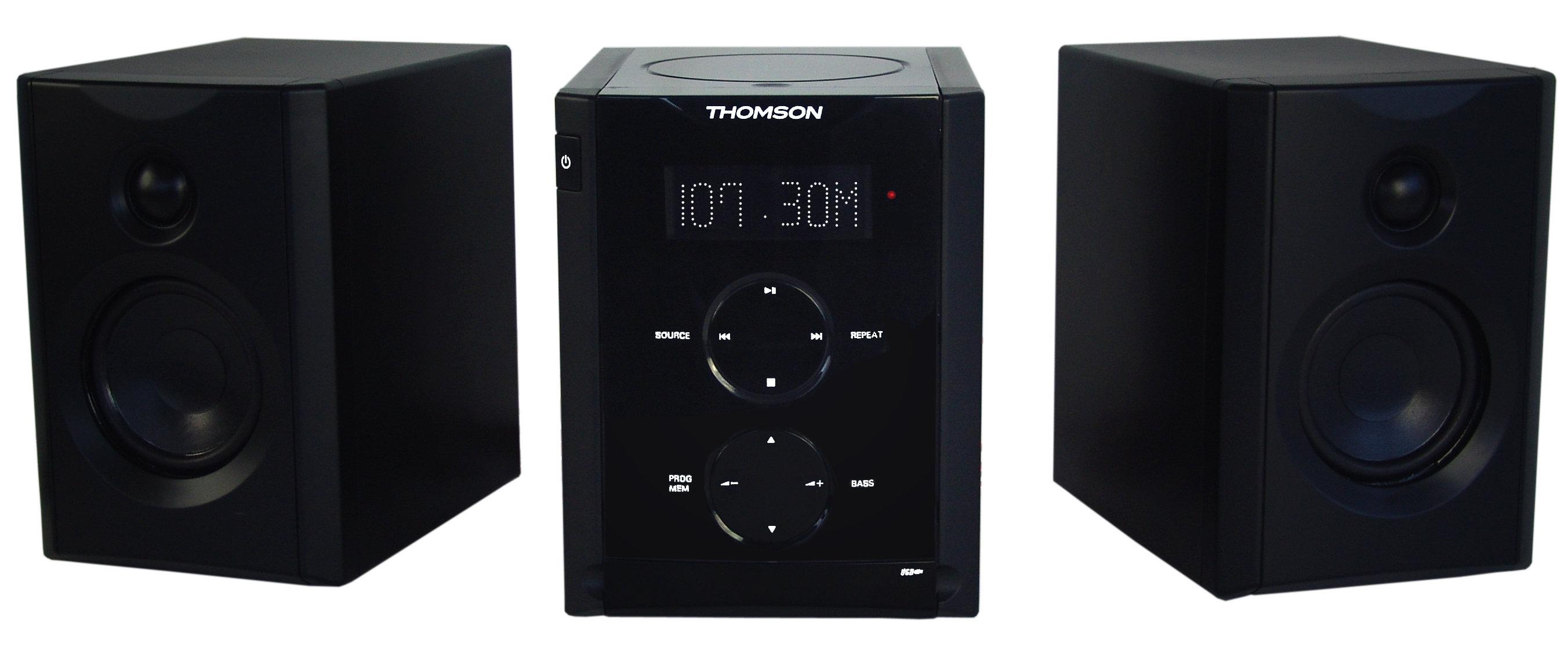 thomson mic 200 impianto stereo con radio orologio mp3 cd. Black Bedroom Furniture Sets. Home Design Ideas