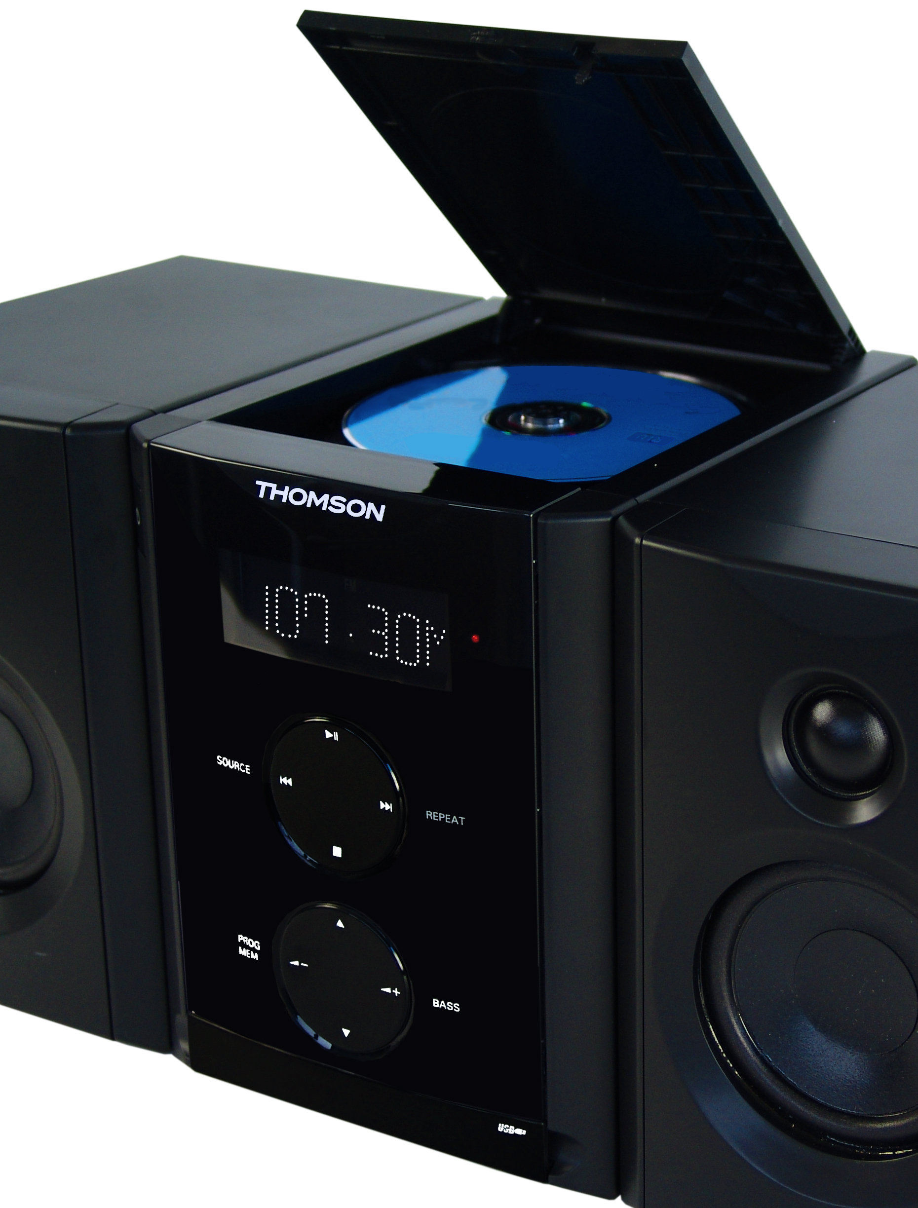 thomson mic 200 stereoanlage mit radio uhr mp3 cd player. Black Bedroom Furniture Sets. Home Design Ideas