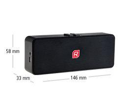 Raikko POCKET BEAT Bluetooth Vacuum Speaker - Mini Aktiv Speaker - Maße