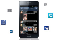 Samsung Galaxy S II - Social Hub