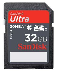 SanDisk Ultra SDXC UHS-I Memory Card 32GB Product Shot