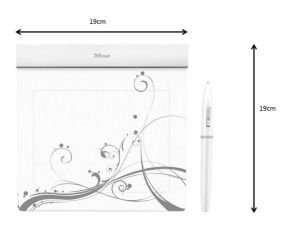 Stylish, ultra thin tablet with 140 x 100 mm working space.