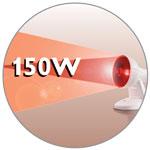 150 Watt Infrarotlampe mit Fokussierungsfunktion