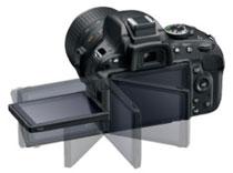 D5100 mit schwenk- und drehbarem Monitor