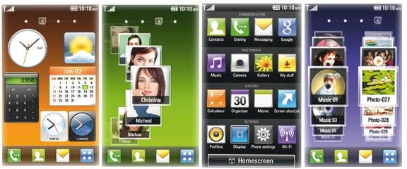 LG KM900 Displays