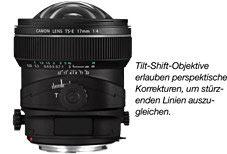 Tilt-Shift-Objektive