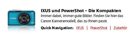 Canon IXUS & PowerShot Digitalkameras