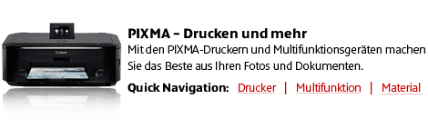Canon PIXMA Drucker und Multifunktionsger�te