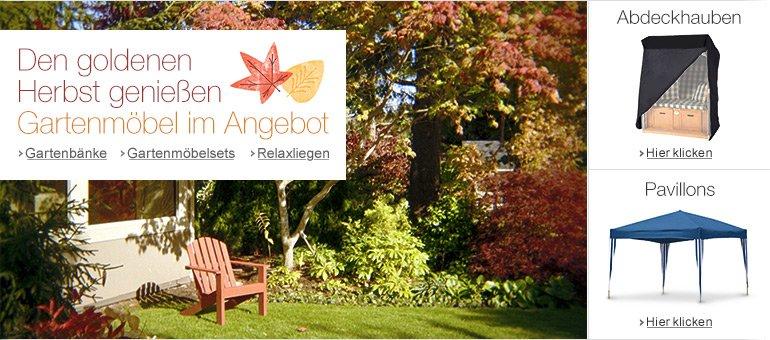 Gartenmöbel im Herbst