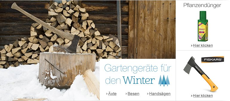 Gartengeräte Winter
