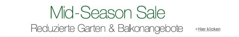 Mid-Season Sale: Sonderangebote bei Garten- und Balkonartikeln
