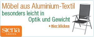 Siena Garden Aluminium-Textil-M�bel - besonders leicht in Optik und Gewicht