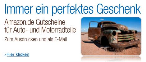 Amazon.de Gutscheine f�r Auto und Motorrad