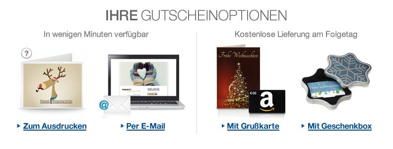 Amazon.de Geschenkgutscheine
