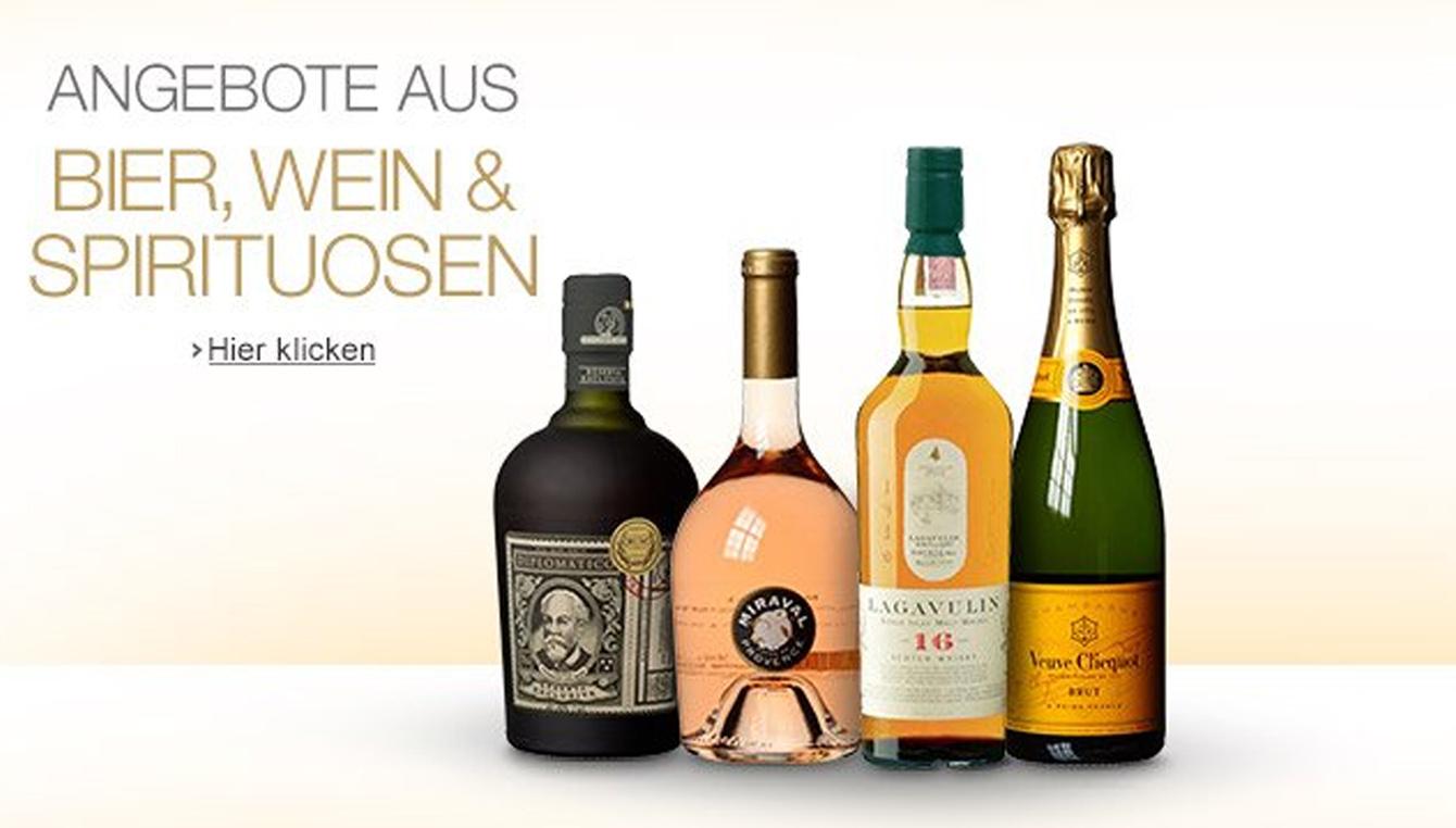 Angebote aus Bier, Wein und Spirituosen
