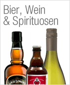 Bier, Wein, Spirituosen