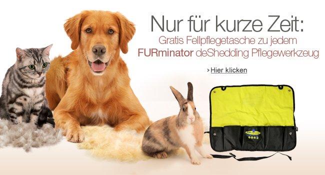 Nur f�r kurze Zeit: Gratis Fellpflegetasche zu jedem FURminator deShedding Pflegewerkzeug