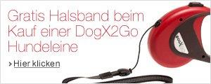 Gratis DogX2Go Halsband beim Kauf einer DogX2Go Hundeleine